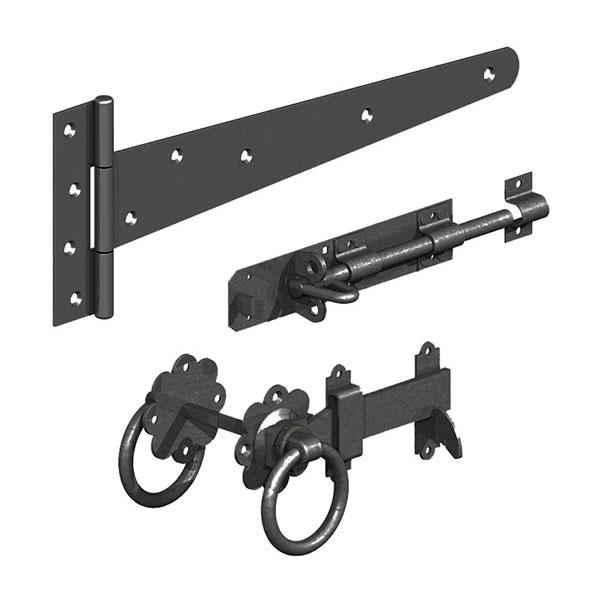 Ashwood Timber Products | Hardware | Gate Latches | Black