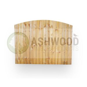 Ashwood Timber Products | Garden | Fencing | Closeboard Fence Panel - Dome/Arch Top