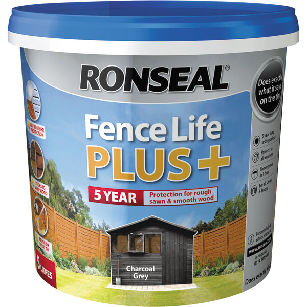 Ashwood Timber Products | Brands | Ronseal Fence Life Plus | Charcoal Grey