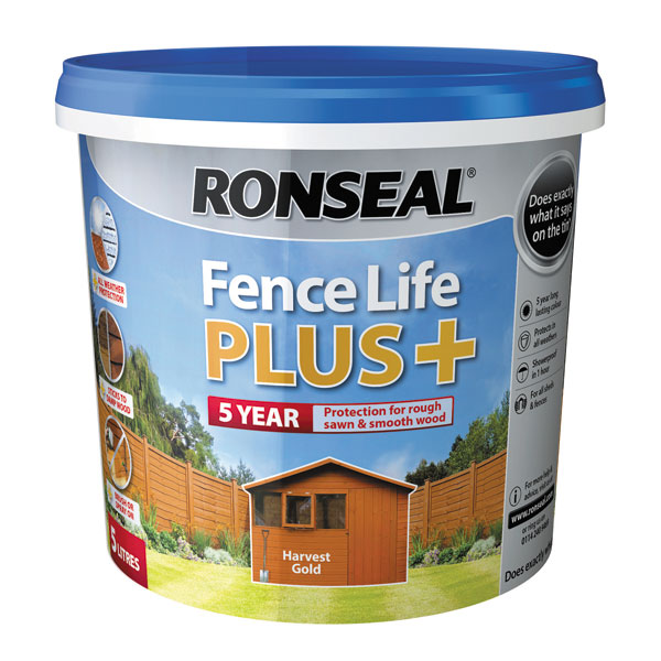 Ashwood Timber Products | Brands | Ronseal Fence Life Plus | Harvest Gold