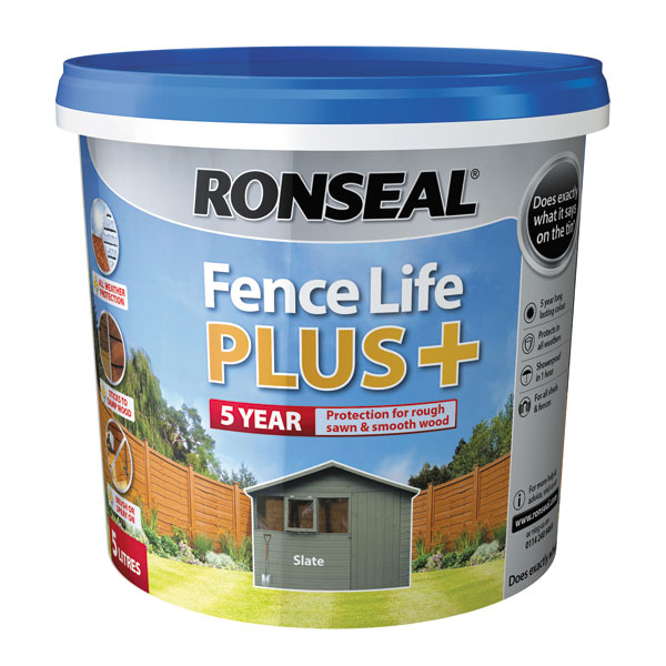 Ashwood Timber Products | Brands | Ronseal Fence Life Plus | Slate