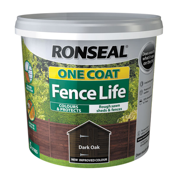 Ashwood Timber Products | Brands | Ronseal One Coat Fence Life | Dark Oak