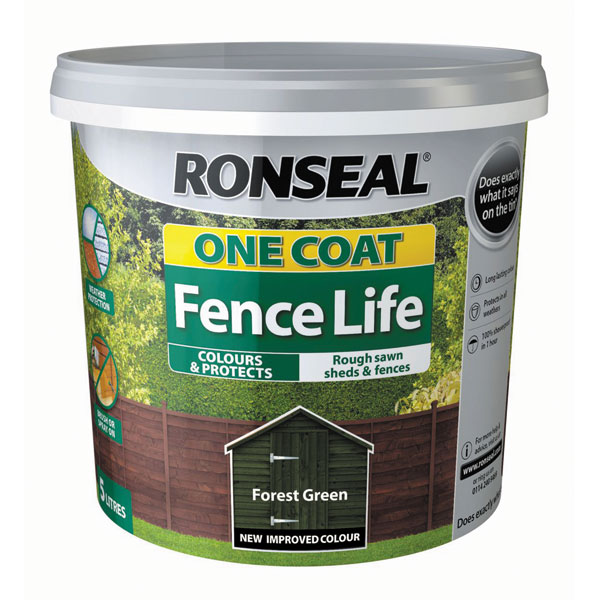 Ashwood Timber Products | Brands | Ronseal One Coat Fence Life | Forest Green