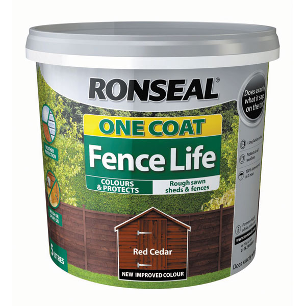 Ashwood Timber Products | Brands | Ronseal One Coat Fence Life | Red Cedar